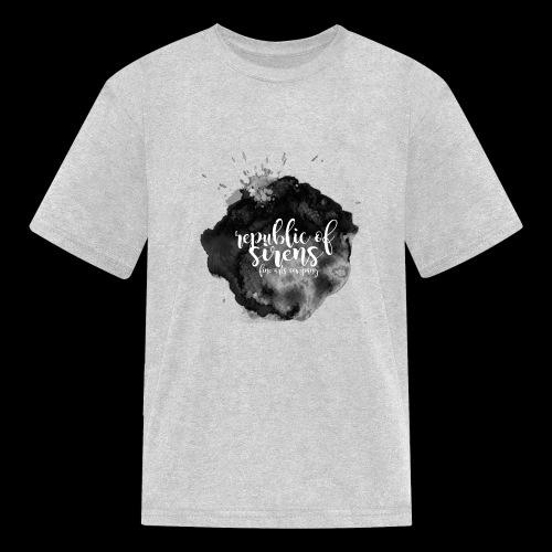 ROS FINE ARTS COMPANY - Black Aqua - Kids' T-Shirt