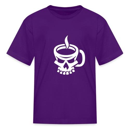 Caffeinated Coffee Skull - Kids' T-Shirt