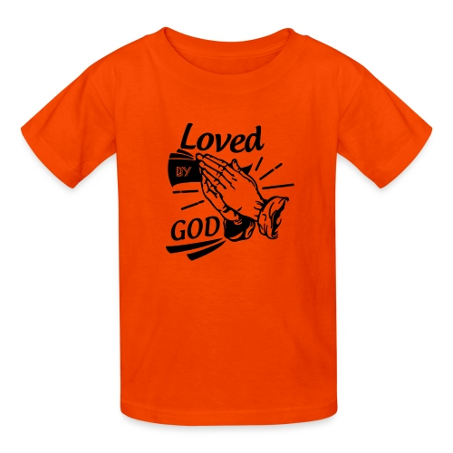 Loved By God (Black Letters) - Kids' T-Shirt
