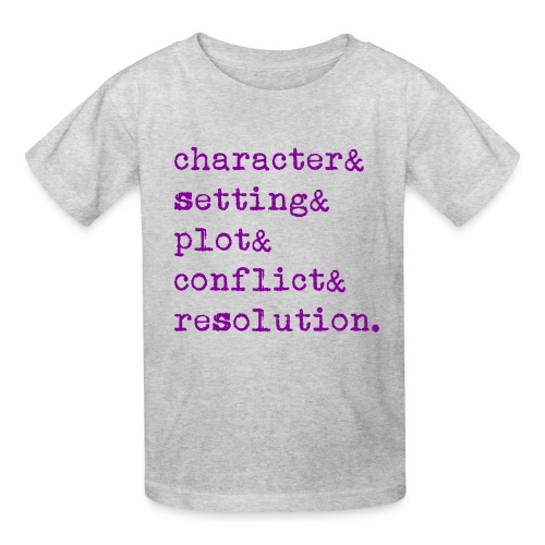 5 Elements of a Story - Kids' T-Shirt