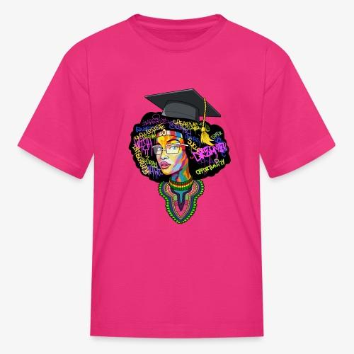 Black Educated Queen School - Kids' T-Shirt
