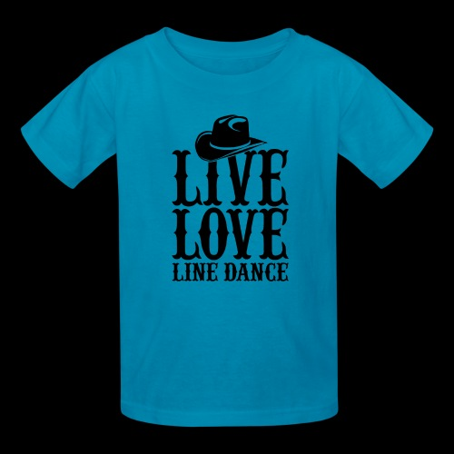 Live Love Line Dancing - Kids' T-Shirt