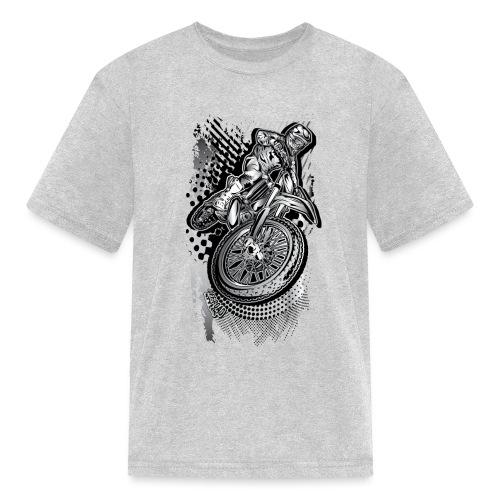 MX Dirt Bike Grunge - Kids' T-Shirt
