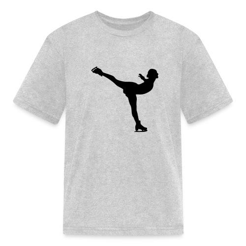 Ice Skating Woman Silhouette - Kids' T-Shirt