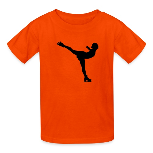 Ice Skating Woman Silhouette - Kids' T-Shirt