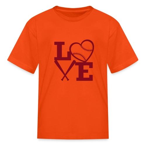 Love baseball - Kids' T-Shirt
