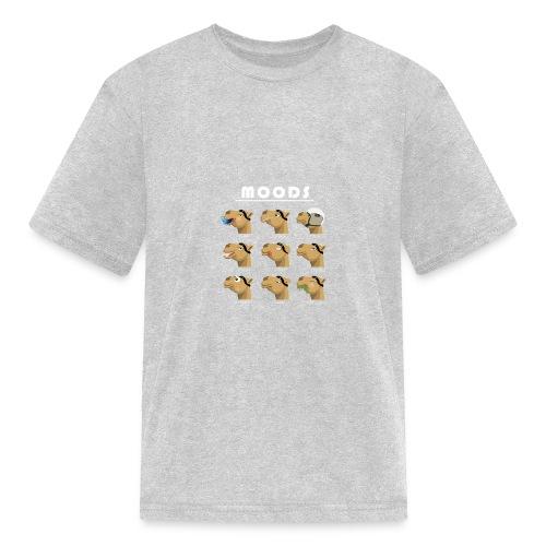 Moods of a camel - Kids' T-Shirt