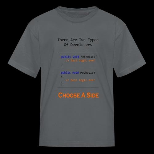 Code Styling Preference Shirt - Kids' T-Shirt