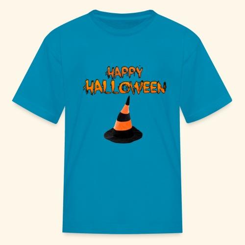 HAPPY HALLOWEEN WITCH HAT TEE - Kids' T-Shirt