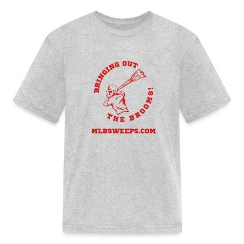MLB Sweeps Logo and tagline with URL (Light) - Kids' T-Shirt