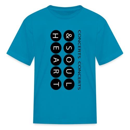 Heart & Soul concerts text design 2021 flip - Kids' T-Shirt