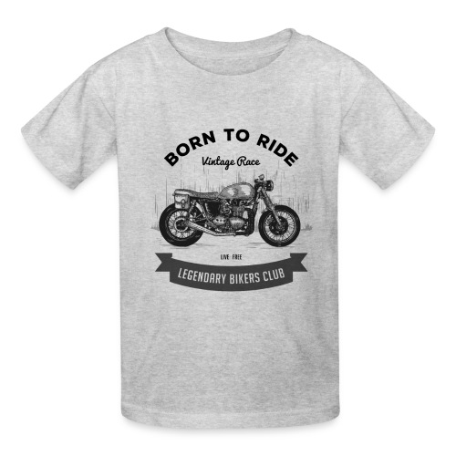 Born to ride Vintage Race T-shirt - Kids' T-Shirt