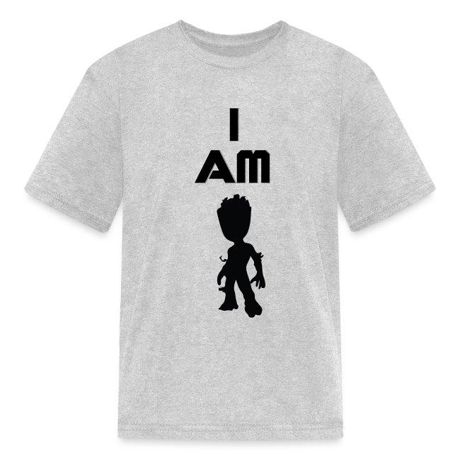 Boys/&Girls Short Sleeve T-Shirt I Am Groot Teenager Unisex T-Shirt