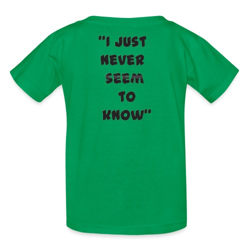 know png - Kids' T-Shirt