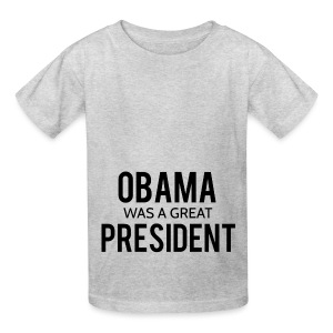 Obama was a great president! - Kids' T-Shirt