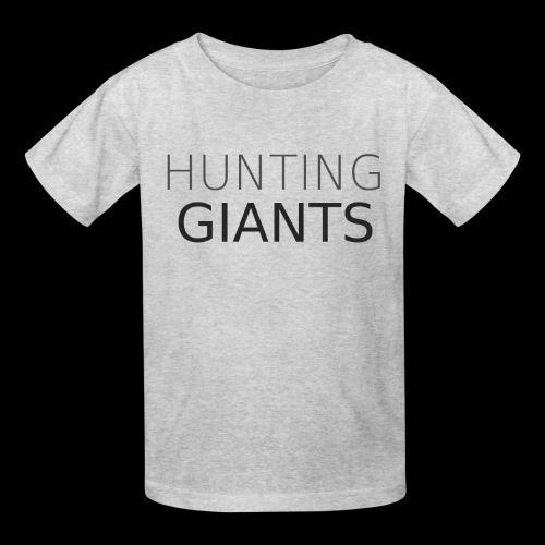 Hunting Giants Logo in Grey - Large - Kids' T-Shirt