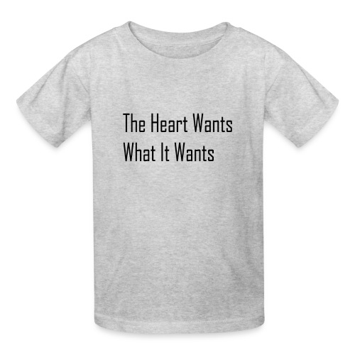 The Heart Wants What It Wants T-Shirt - Kids' T-Shirt