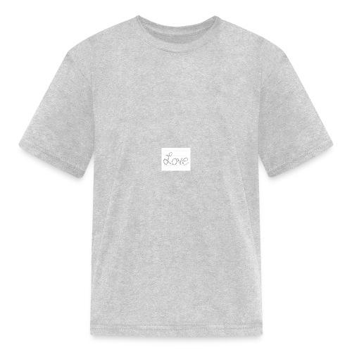 Love written described T-shirt - Kids' T-Shirt