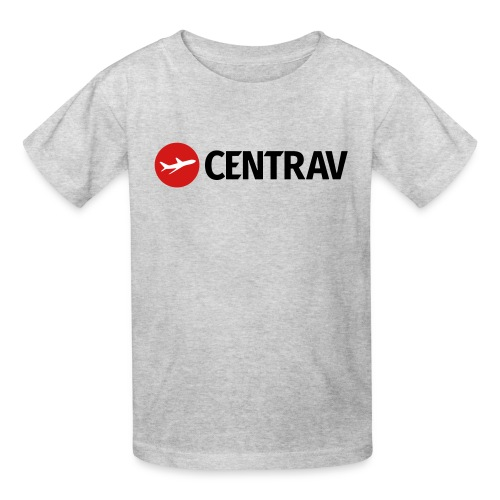 Black Centrav Logo - Kids' T-Shirt