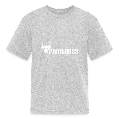 PivotBoss White Logo - Kids' T-Shirt