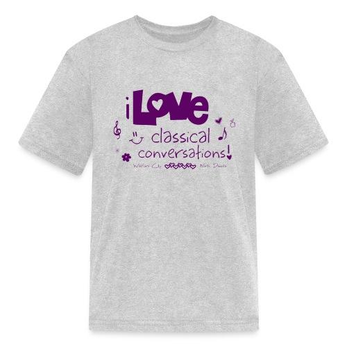 I Love CC Purple - Kids' T-Shirt