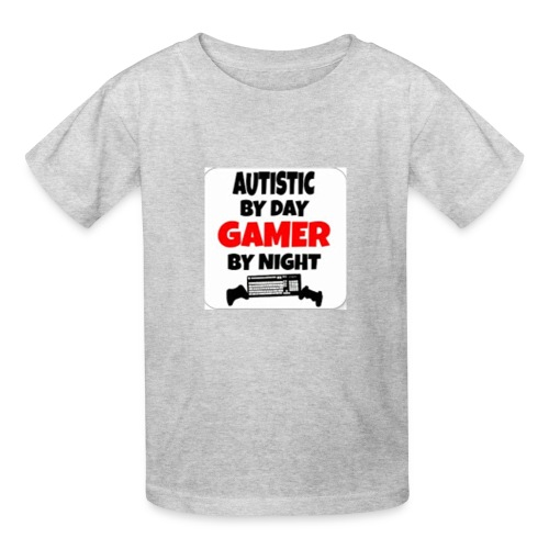 Autistic By Day Gamer By night - Kids' T-Shirt