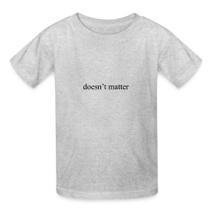 doesn't matter logo designs - Kids' T-Shirt