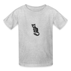 elegant-cat-with-bird-tattoo-design-5 - Kids' T-Shirt