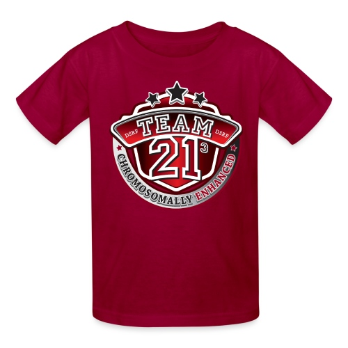 Team 21 - Chromosomally Enhanced (Red) - Kids' T-Shirt