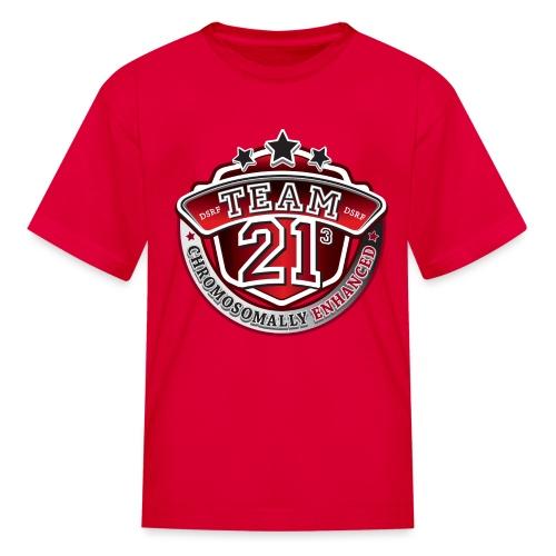 Team 21 - Chromosomally Enhanced (Red) - Kids' T-Shirt