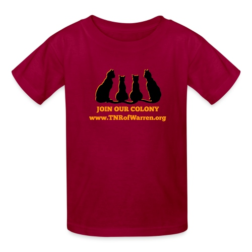 TNR JOIN OUR COLONY - Kids' T-Shirt