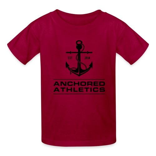 Anchored Athletics Vertical Black - Kids' T-Shirt