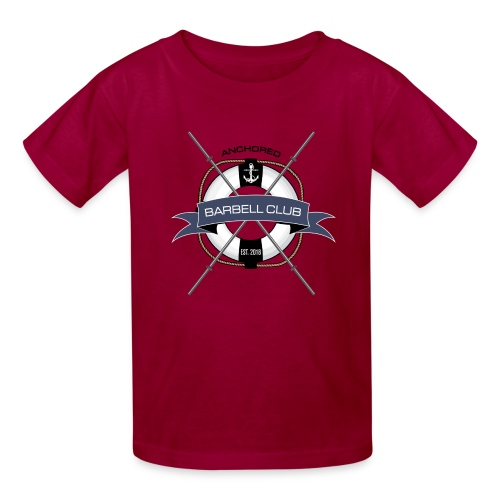 Anchored Barbell Club Colored - Kids' T-Shirt