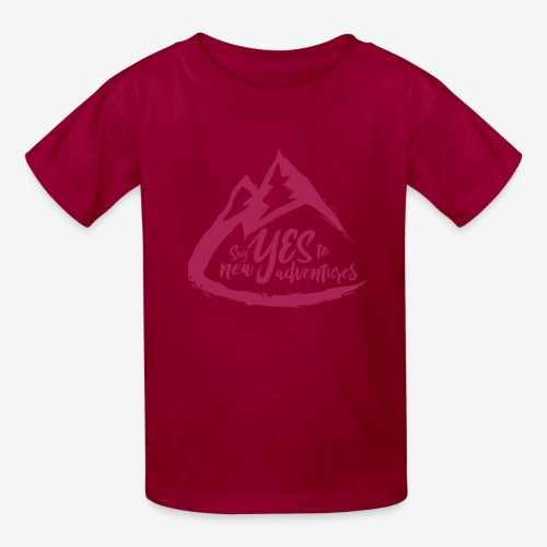 Say Yes to Adventure - Coloured - Kids' T-Shirt