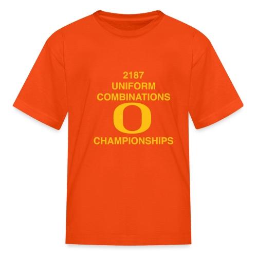 2187 UNIFORM COMBINATIONS O CHAMPIONSHIPS - Kids' T-Shirt