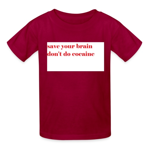 save your brain don't do cocaine - Kids' T-Shirt