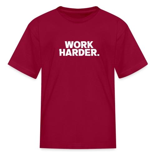 Work Harder distressed logo - Kids' T-Shirt