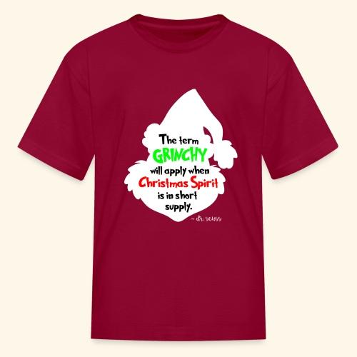 The Term Grinchy - Kids' T-Shirt