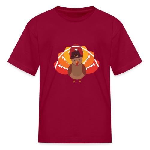 Funny Turkey Football - Kids' T-Shirt