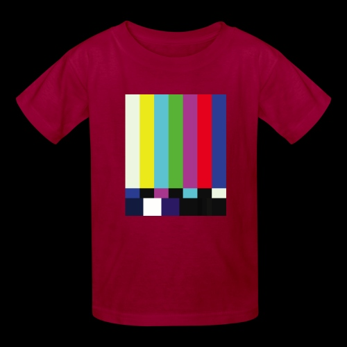 This is a TV Test   Retro Television Broadcast - Kids' T-Shirt
