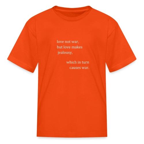 love not war (invert) - Kids' T-Shirt