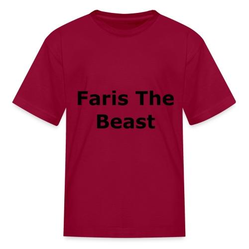 Faris The Beast Text - Kids' T-Shirt
