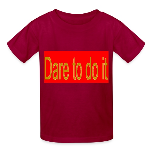 Dare to do it red - Kids' T-Shirt