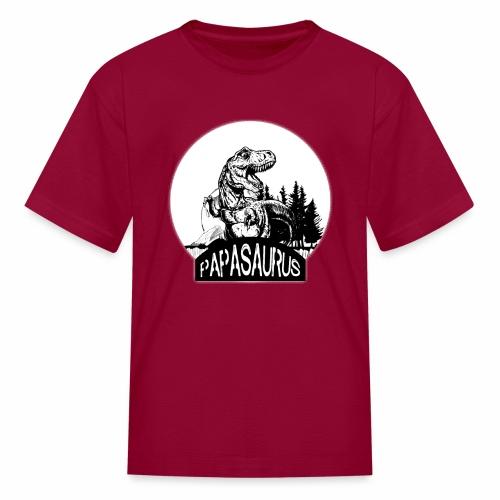 papasaurus - Kids' T-Shirt