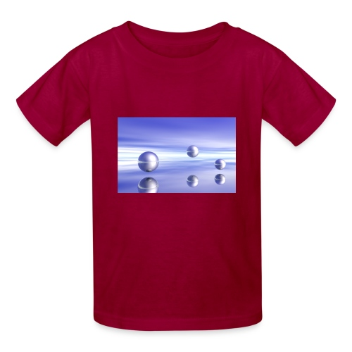 Ball Landscape in 3D - Kids' T-Shirt