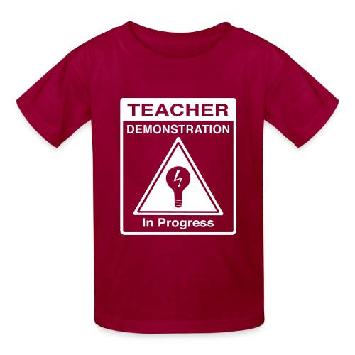 Teacher Demonstration in Progress - Kids' T-Shirt