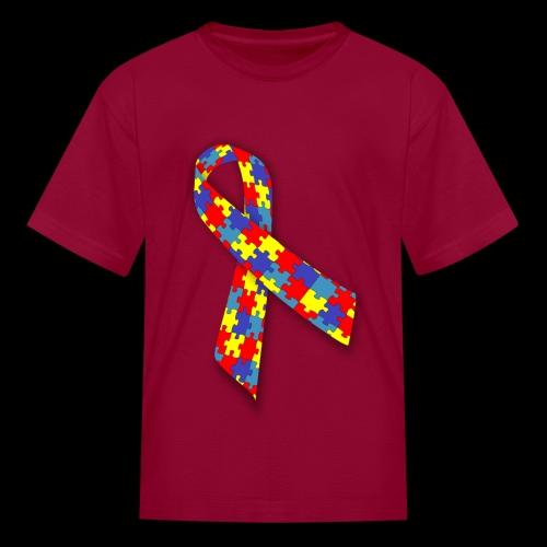 autism awareness ribbon - Kids' T-Shirt