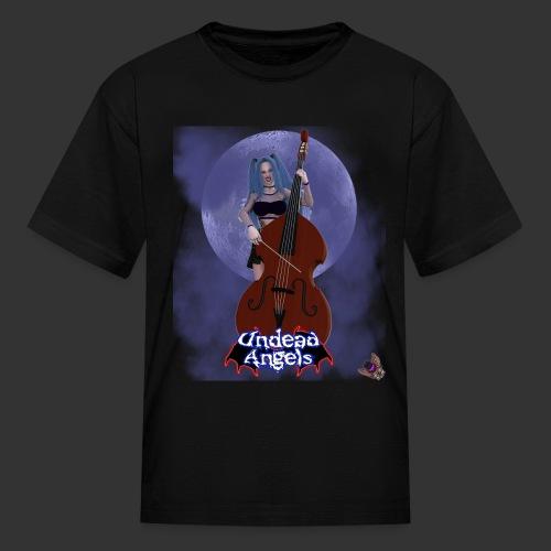 Undead Angels: Vampire Bassist Ashley Full Moon - Kids' T-Shirt