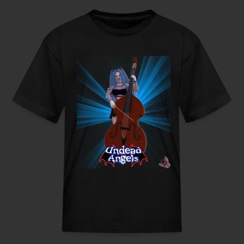 Undead Angels: Vampire Bassist Ashley Spotlight - Kids' T-Shirt