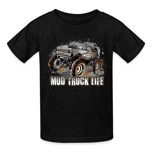 Mega Mud Truck LIFE - Kids' T-Shirt